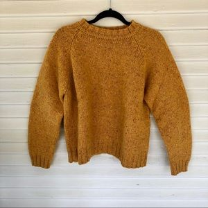 Abercrombie & Fitch – Yellow 100% Wool Sweater